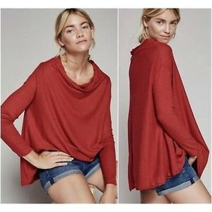 We the Free People Rust Lover Ribbed Thermal Top M